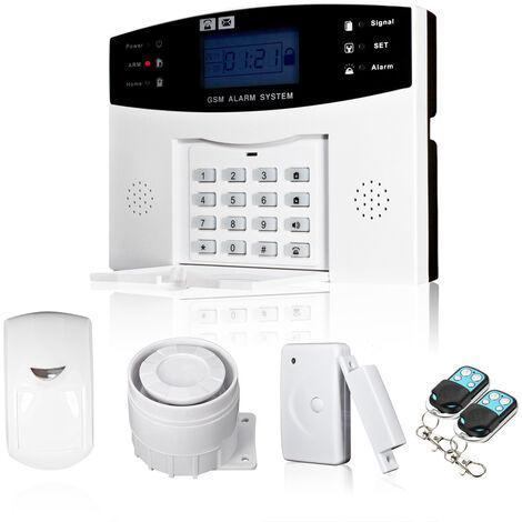 Sans Fil Gsm Sms Home Intrusion Sensor Systeme D'Alarme Detecteur De Securite Kit Phone App Remote Control 433Mhz 1527