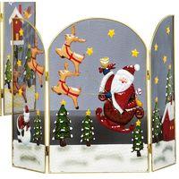 Santa and Reindeer's Christmas Fireguard / Fire Screen - Size 64cm