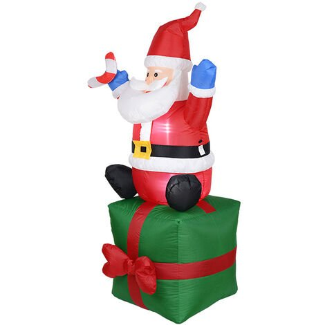 """main image of """"Santa claus inflatable inflatable santa claus light inflatable christmas decoration garden decoration props"""""""