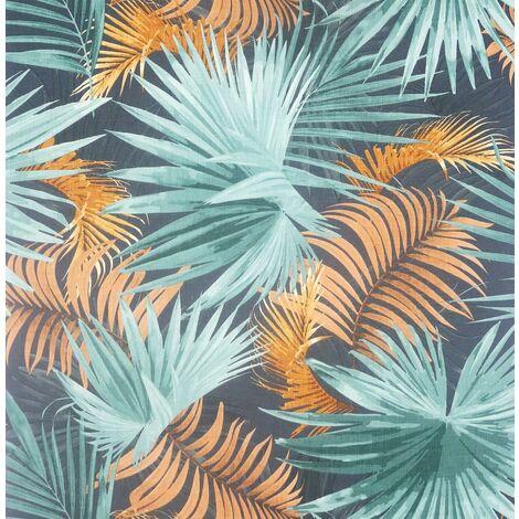 Santa Elena Wallpaper Arthouse Tropical Jungle Orange Teal Vinyl Textured