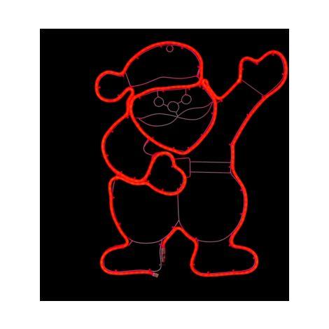 Santa Neon Effect Red LED Wall Light