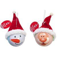 Santa/Snowman Hat Bauble UBL