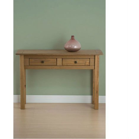 Santiago 2 Drawer Console Table Distressed Pine