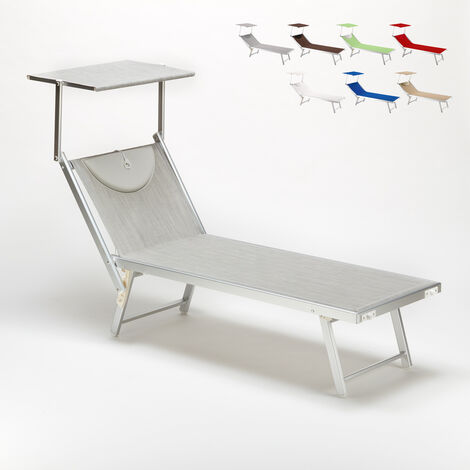 SANTORINI Folding Sun Lounger With Headrest And Adjustable Backrest