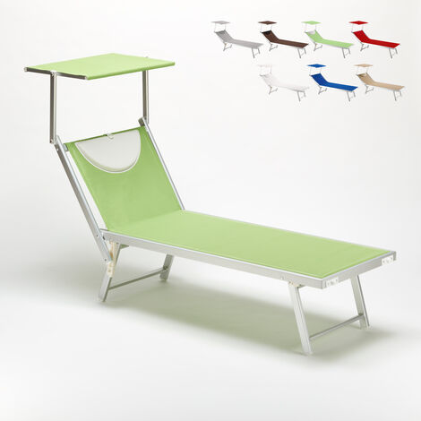 SANTORINI Folding Sun Lounger With Headrest And Adjustable Backrest