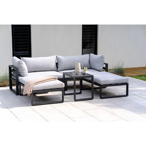 "main image of ""Santorini – Lounge Set with Side Cushions – Grey"""