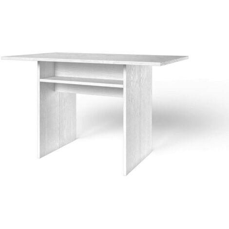 Minimalista e moderno consolle specchio MDF 106,5 x 38 x 76,5 centimetri,White
