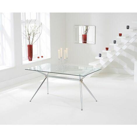 Sapento 150Cm Glass Table