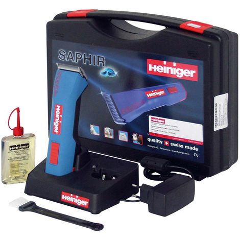 Saphir quick rechargeable battery operated shearer for horses, cattle, dogs and cats with complete kit