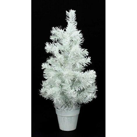 Sapin artificiel de table blanc - H 45 cm