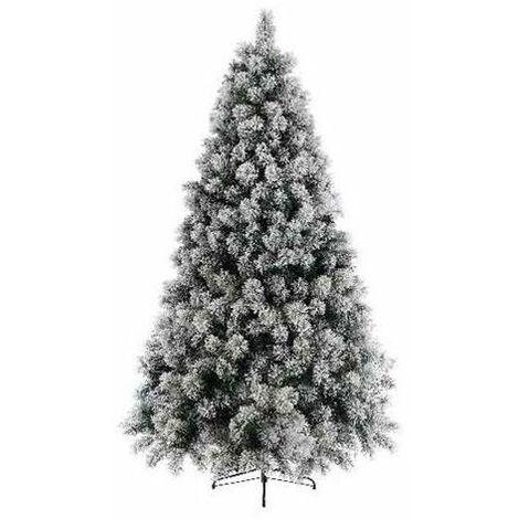 Sapin artificiel VANCOUVER ENNEIGE (180 cm) Haut de Gamme Sapin NOEL Arbres artificiels - VERT-BLANC