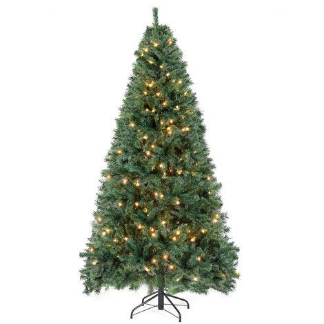 Sapin de Noël Artificiel Lumineux, 210 cm