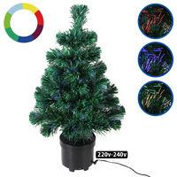 Sapin de Noël 60 cm Arbre artificiel 9 effets de lumière Décoration maison fêtes