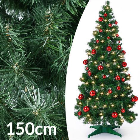 Sapin de Noël Arbre artificiel 150 cm 333 Branches avec pied Décorations noel