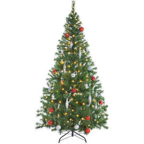 Sapin de Noël artificiel 140-180cm support inclus arbre de noël décoration