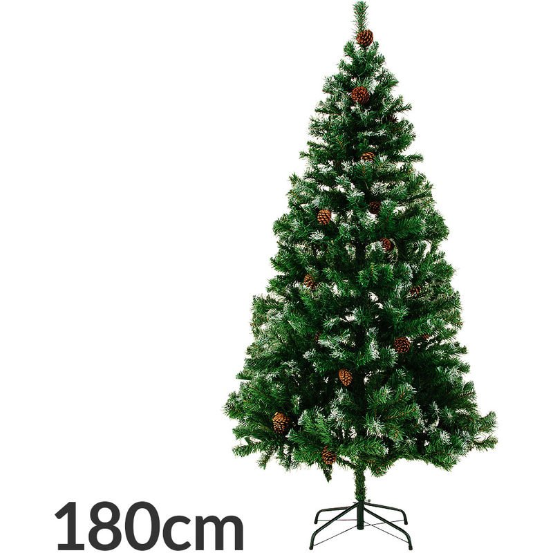 Artificiel sapin de Noël sapin LED neige vert artificiellement arbre de Noël