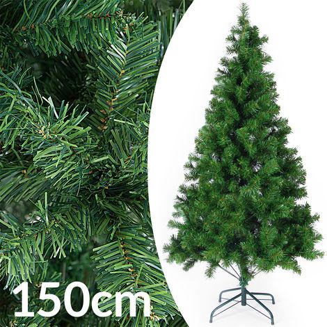 Sapin de Noël artificiel 140 cm en PE Décoration fête Arbre de noël 470 branches