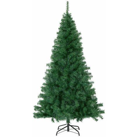Sapin de Noël artificiel 210 cm Vert 718 Pointes de Branche - Arbres de Noël artificiels 210 cm Traditionnel Classique