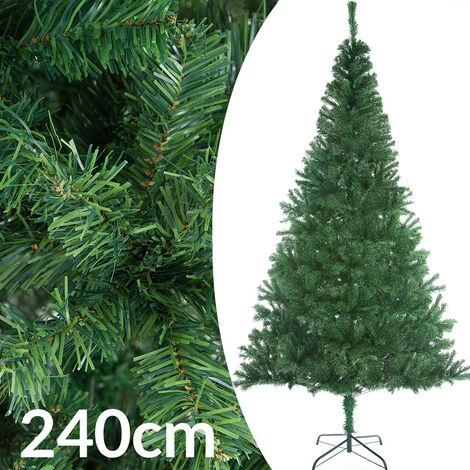 Sapin de Noël artificiel 240 cm Décoration fêtes Arbre de noël 1057 branches