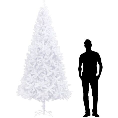 Sapin de Noël artificiel 300 cm Blanc