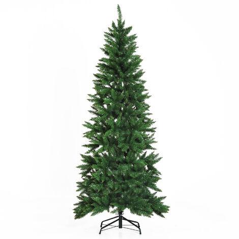 Sapin de Noël artificiel Ø 91 x 210H cm 865 branches épines imitation Nordmann grand réalisme vert