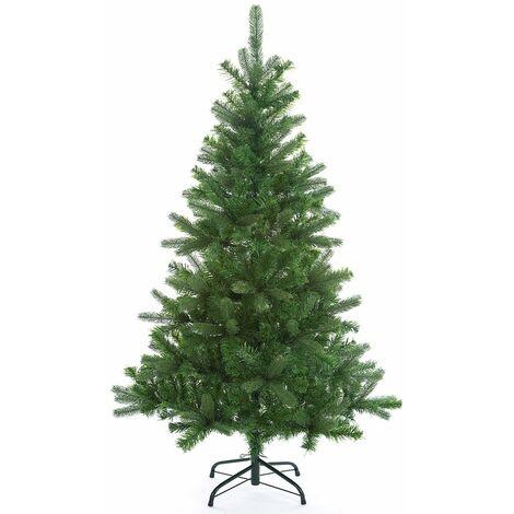 Sapin de Noël artificiel avec socle 140cm - 240cm Décoration fêtes Arbre de noël