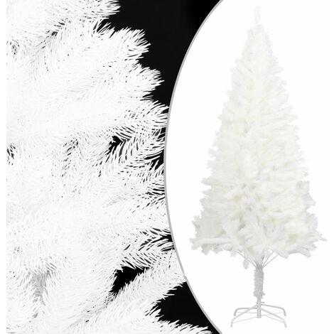 Sapin de Noël artificiel avec support Blanc 210 cm PE