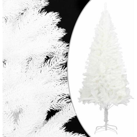 Sapin de Noel artificiel avec support Blanc 210 cm PE