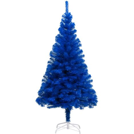 "main image of ""Sapin de Noël artificiel avec support Bleu 150 cm PVC"""