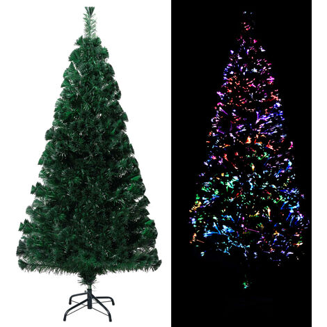 Sapin de Noël artificiel avec support Vert 150 cm Fibre optique