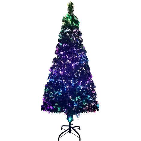 Sapin de Noël artificiel avec support Vert 240 cm Fibre optique