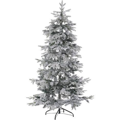 Sapin de Noël artificiel 180 cm blanc TOMICHI