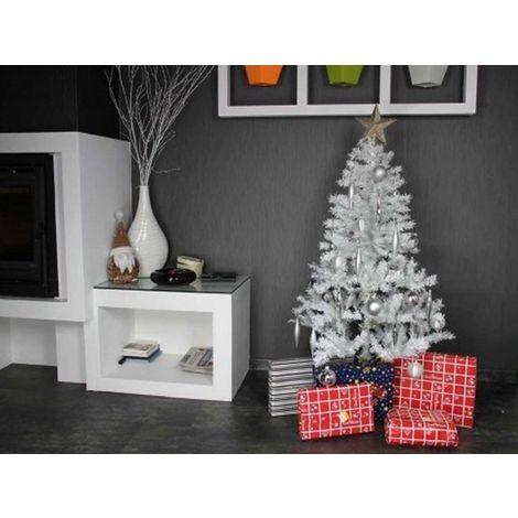 Sapin de Noel artificiel de Luxe et Élégant Blanc 210 cm