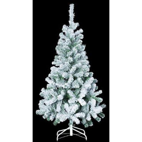 Sapin de noël artificiel en PVC et acier coloris blanc / vert- Dim : 210cm x 127cm-PEGANE-