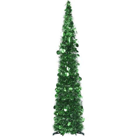 Sapin de Noël artificiel escamotable Vert 120 cm PET