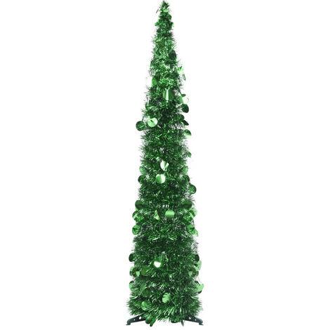 Sapin de Noel artificiel escamotable Vert 120 cm PET