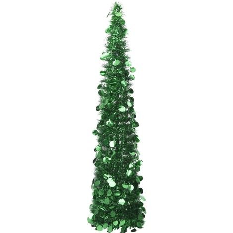 Sapin de Noël artificiel escamotable Vert 150 cm PET