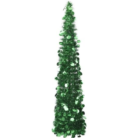 Sapin de Noël artificiel escamotable Vert 180 cm PET