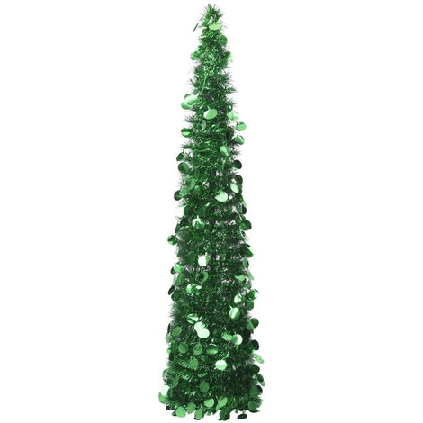 Sapin de Noel artificiel escamotable Vert 180 cm PET