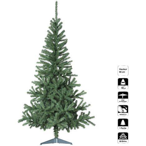 Sapin de Noël arbre de Noël Sapin 150 cm vert Paré avec guirlande