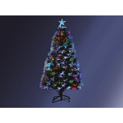 Sapin de Noël artificiel fibre optique Bucarest 120 cm