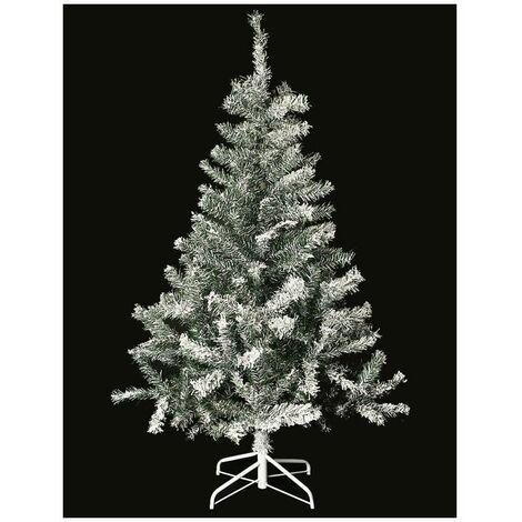 Sapin de Noël artificiel floqué - 150 cm - Décoré de neige artificielle - Livraison gratuite
