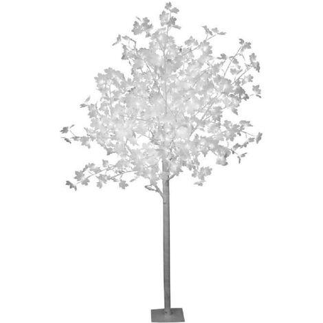 Sapin de Noël artificiel lumineux Erable Blanc 150 cm