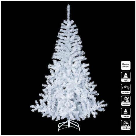 Sapin de Noël artificiel Luxe Blanc