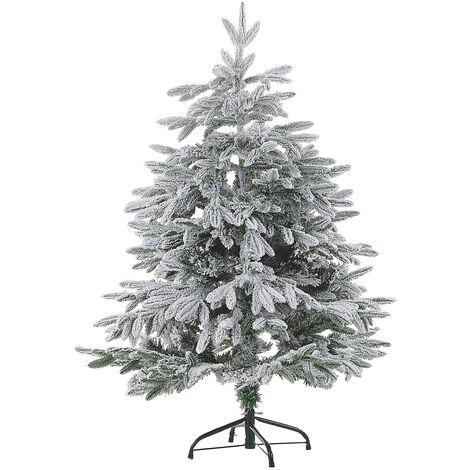 Sapin de Noël artificiel vert avec effet neige blanche naturelle 120 cm de hauteur