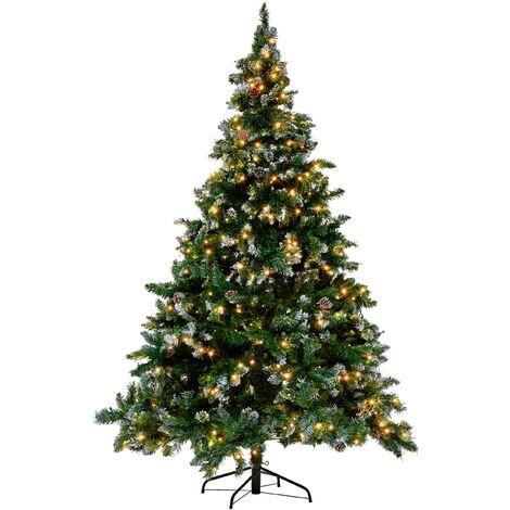 Sapin de Noël artificiel vert pré-illuminé 180 cm PALOMAR