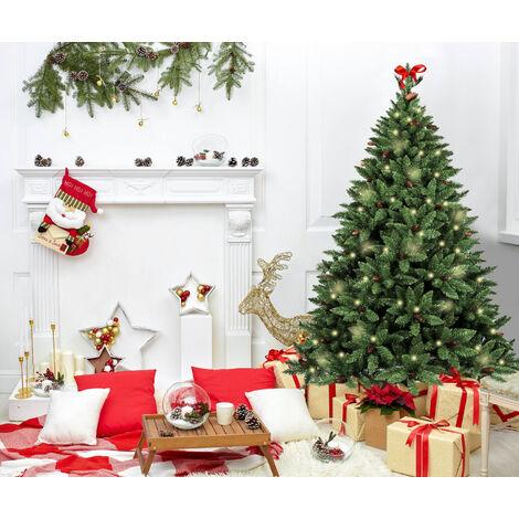 """Sapin de Noël """"Claudia"""", Hauteur 240 cm, Avec pommes de pin incluses, 1444 branches, 155 x 155 x 240 cm"""