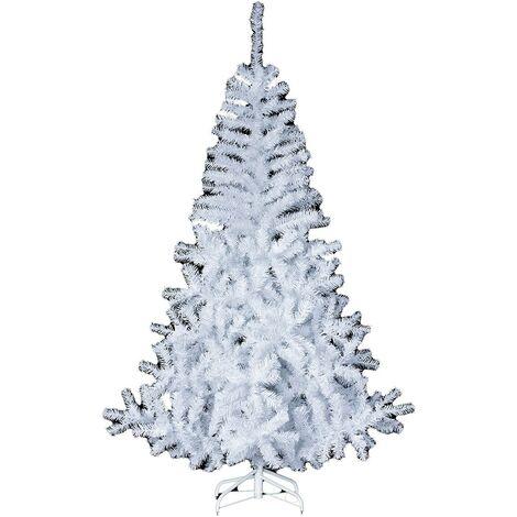 Sapin de Noël Élégant blanc 210 cm - Blanc