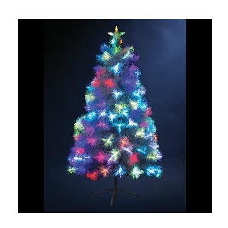 Sapin de Noël en fibre optique - 54 x 54 cm x H 90 cm - Varsovie - Livraison gratuite