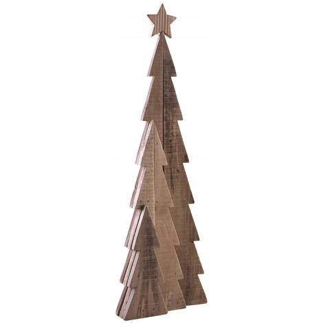 Sapin en bois - Dim : 25 x 8 x 82 cm -PEGANE-